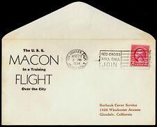USS Macon ZRS-5 Zeppelin Flight Cover Los Angeles Nov 21 1934 Hulff Cach 35 Made