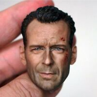 Custom 1/6 Scale Never Die Bruce Willis Head Sculpt for 12'' Action Figure Body
