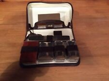 Vintage Leather Gents Travel Fitted Vanity Case Set