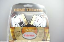 2 STÜCK - Hama Scart Kabel 0,75m 75cm Home Theatre Gold 079005 Metallstecker