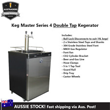 Kegerator Double Tap, Homebrew Keg Fridge Series 4 Keg King