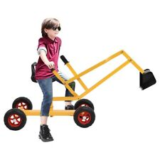 Heavy Duty Kids Ride-on 4-Wheel Excavator Sand Digger Rotatable Seat Game Toy US