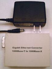 Gigabit Ethernet GbE copper fiber media converter MM FEDEX overnite available