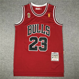 23# Michael Jordan Chicago Bulls 1996-97 Finals Classics Swingman Jersey Red