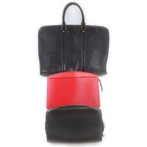 Louis Vuitton Epi Brief Case Clutch 3 pieces set 519073