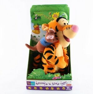 1999 Vintage Disney Fisher Price Bounce And Sing Tigger And Roo Too Winnie Pooh