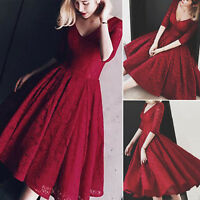 Women Lace Homecoming Prom Evening Dress Cocktail Party Bridesmaid Formal Gown