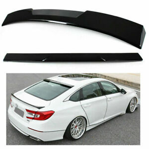 JR2 Painted Black Color for 2008 2009 2010 2011 2012 Honda Accord Coupe 2D Rear Window Roof Spoiler