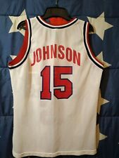 SIZE M USA Olympics Basketball Team Shirt Jersey Champion Johnson #15