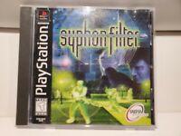 Syphon Filter Sony PlayStation 1 PS1 1999 NTSC Cib Black Label