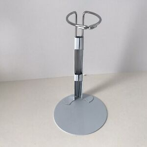 """White Metal Doll Stand- fits size 7"""" - 9"""" Dolls"""