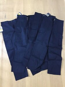 4 pairs DNC workwear cargo pants Size 77R Navy New With Tags