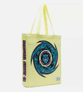 Herschel Supply Co Santa Cruz Graphic Tote Bag Skateboard Neon Yellow need speed