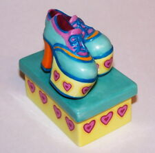 Franklin Mint Zl42 The Hustle Music Box Dancing Shoes Nib