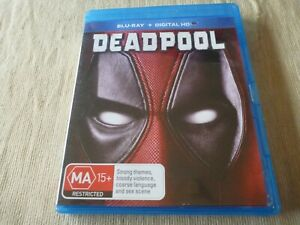 Deadpool (Blu-ray, 2016) Region B Ryan Reynolds, Morena Baccarin