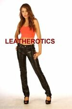 Leather Slim, Skinny, Treggings Mid Rise Women's Trousers