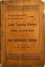 1900S Latest Magic, Conjuring And Spiritualistic Illusions W.D. Leroy Catalogue