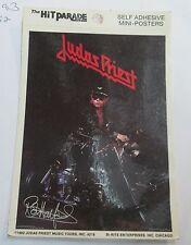 Judas Priest Mini Poster Self Adhesive Sticker Oop Metal Rock Vintage 1982