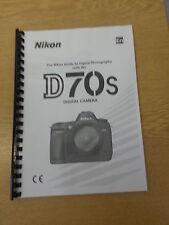 Nikon D70s Dgital Cámara plenamente Impreso Manual de usuario Guía Manual 219 Páginas