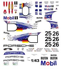 #25 Mobil 1 Porsche GT-1 1997 1/43rd Scale Slot Car Waterslide Decals