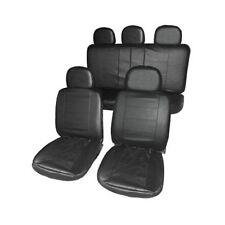 Housses de siège auto EFFET CUIR fendue Arrière Noir Texture qualité TAXI
