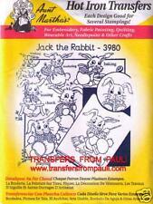 Kitchen Rabbits Aunt Martha's Hot Iron Embroidery Transfer #3980