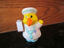 Fisher Price Little People Animalville Dr. Duck Carin gosling Goose nurse toy a