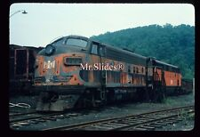 Original Slide B&LE Bessemer & Lake Erie Old Paint F7A 722 & F7A In 1976 AT Kayl