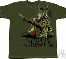 Bob Marley UPRISING REGGAE OLIVE T-SHIRT SMALL