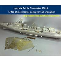 Upgrade Set for Trumpeter 03611 1/200 China Naval Destroyer 167 Shen Zhen Model