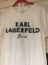 KARL LAGERFELD BLACK WHITE Sequin T-shirt Authentic SZ SMALL -NEW With Tags