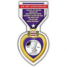 Centenario De Nacimiento John F. Kennedy 2017 Cupro Níquel en paquete de Corazón Púrpura