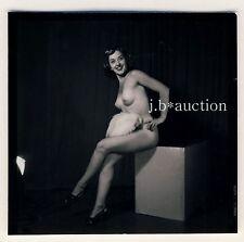 Nude model at Studio/photoshoppare modello nudo * 60s Seufert contact Print #5