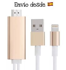 Cable Adaptador HDMI TV HDTV iPhone 5 5s SE 6 6s 6Plus 6s Plus iPad Air Pro Mini