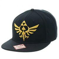 Bioworld Nintendo Zelda Logo Black Video Game Link Snapback Hat SB157XZSS