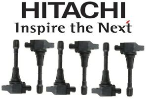 Hitachi Set of 6 Ignition Coils IGC0003 for Infiniti EX35 FX35 G25 Nissan 350Z
