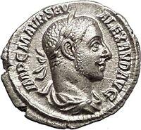 SEVERUS ALEXANDER 226AD Silver Ancient  Roman Coin ANNONA Wealth i57327