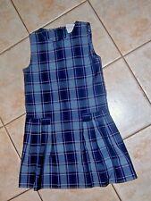 Becky Thatcher Elderwear Sz 8 Girls Uniform School Plaid Pleated Jumper Dress Ec
