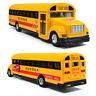 Interesting Orange Zinc Alloy School Bus Car Model Within Sound & Light Present