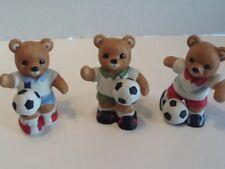 #14611 Soccer Bears Figurines Vintage Home Interiors