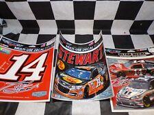 Tony Stewart Stewart-Haas Racing  3 Pack of NASCAR Square Decals