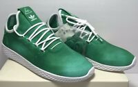 Adidas Mens Size 9.5 PW Pharrell Williams Hu Holi Tennis Hu - Green White DA9619