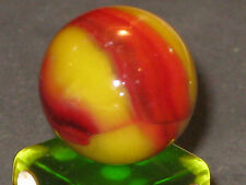 BLENDED RED BEE VINTAGE PELTIER GLASS MARBLE MARBLES OTTAWA, IL