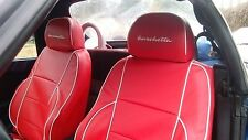 Liners Seats Car Tailored Asiam Fiat Barchetta from 1994/2005 Leatherette Red