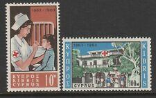Cyprus 1963 Red Cross set SG 232-233 Mnh.