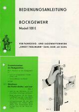 Suhl 1973c Bockgewehr Bedienungsanleitung- Ernst Thalmann Handbuchanual
