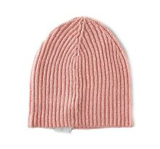 Ann Taylor LOFT - Womens - NWT - Solid Pink Ribbed Knit Basic Beanie Hat
