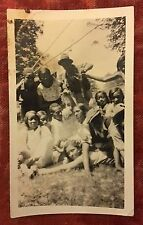 Antique African American School Kids Attractive Group Old Photo Black Americana
