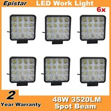 6X 48W Square LED Work Light For Truck Offroad Tractor Motocycel Spotlights 12V