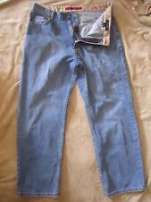 NAUTICA Relaxed Factory Distress Cotton 5-Pocket Blue Denim Jeans Mens 36 X 29.5